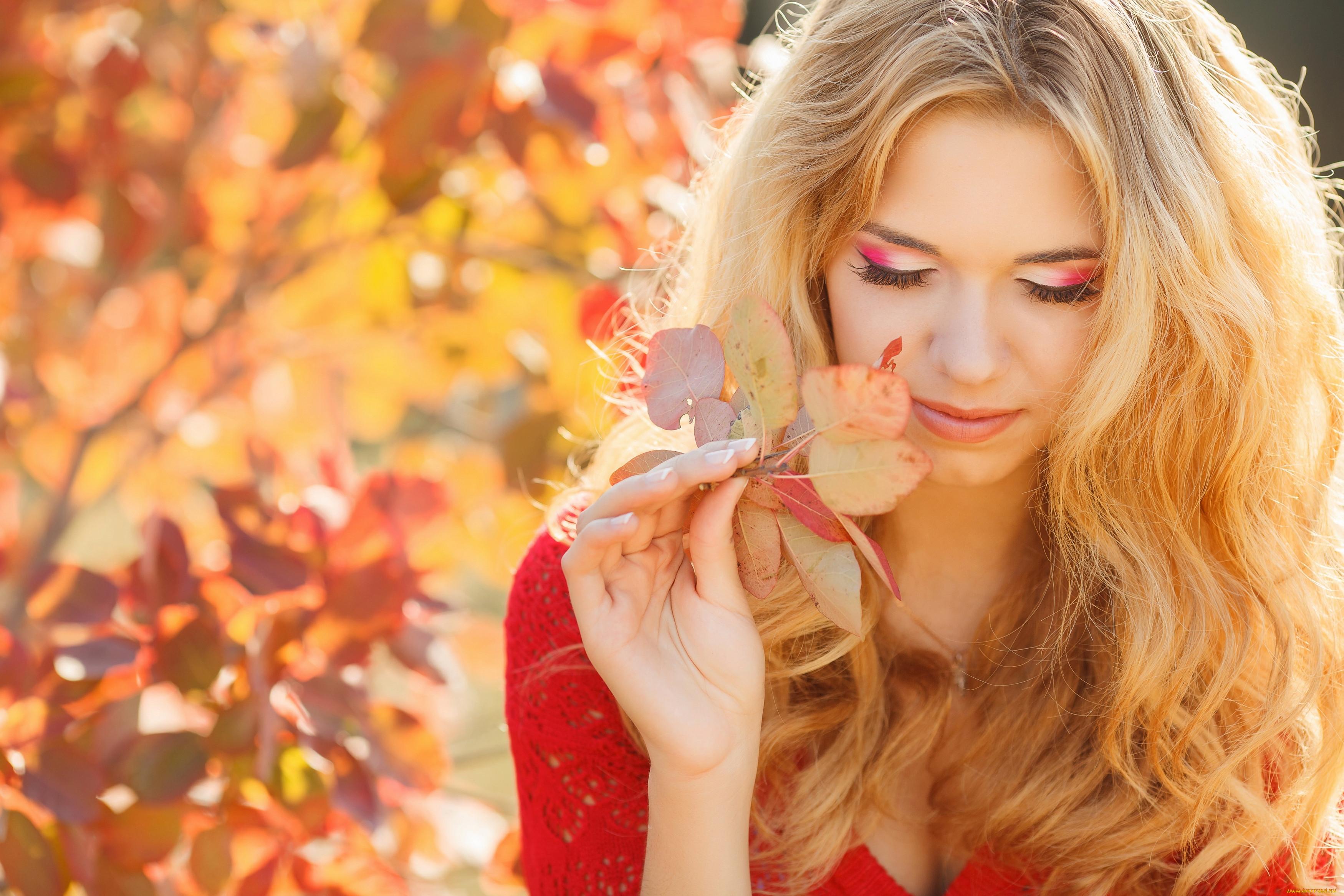 Красивая женщина осень картинки